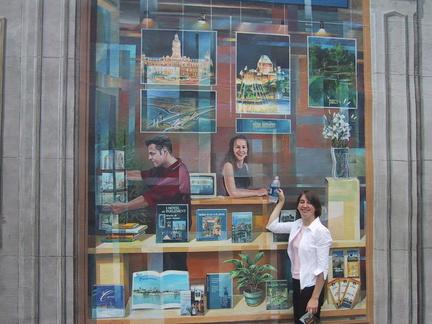 Hélène devant la grande fresque