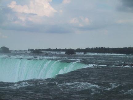 Le haut des chutes canadiennes