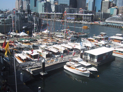 Darling Harbour, rassemblement de bateaux en bois